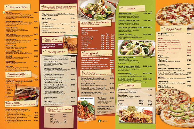 Thiết kế menu dán tường - sử dụng màu sắc tươi sáng