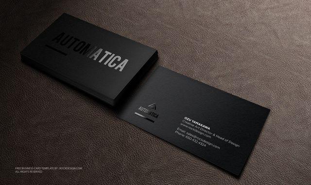 Làm card visit màu đen huyền bí và sự kết hợp hoàn hảo
