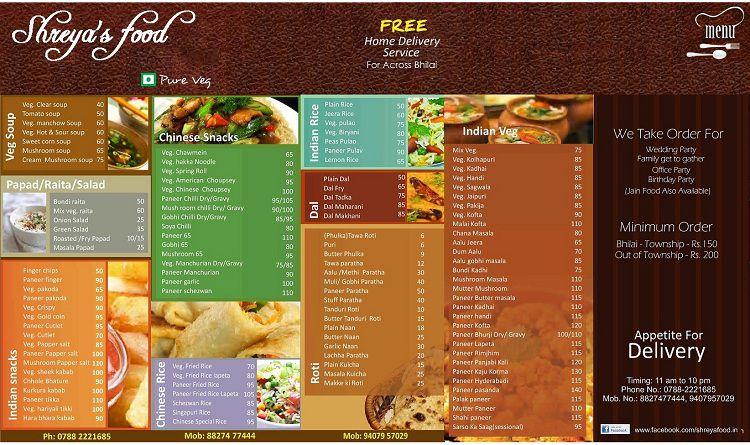 Thiết kế menu treo tường - menu dán tường cực đẹp