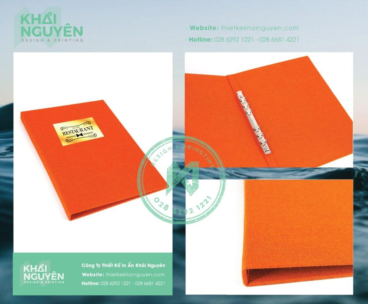 In menu vải - menu bìa vải linen cao cấp