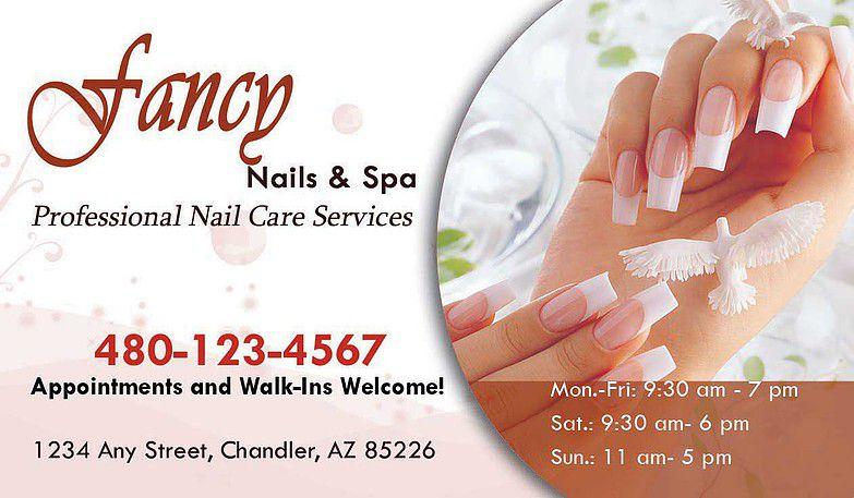 Mẫu namecard nails với thông tin bổ sung tinh tế