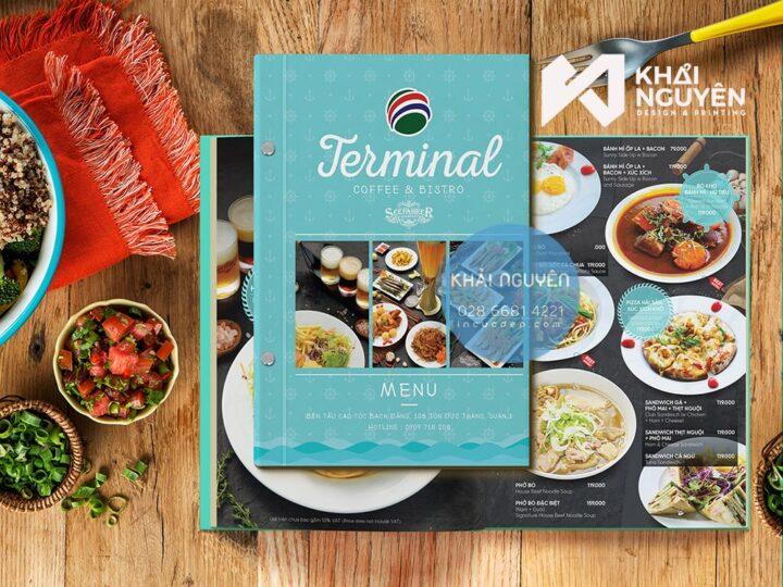 In menu bìa cứng tiện dụng và cao cấp