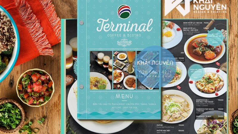 In menu nhà hàng sang trọng với nhiều ý tưởng mới lạ