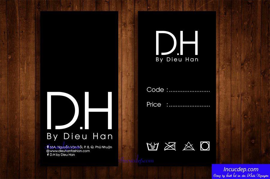 Mẫu thiết kế price tag DH fashion