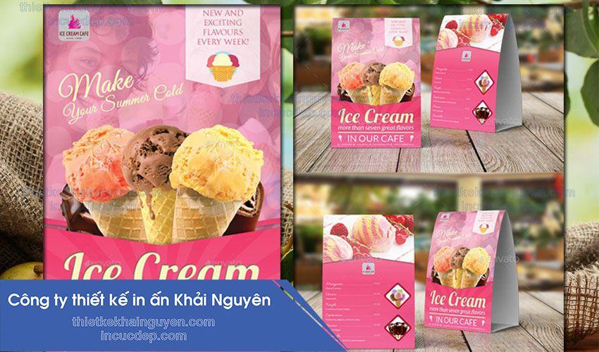 Làm menu kem để bằng giấy giấy tiện lợi