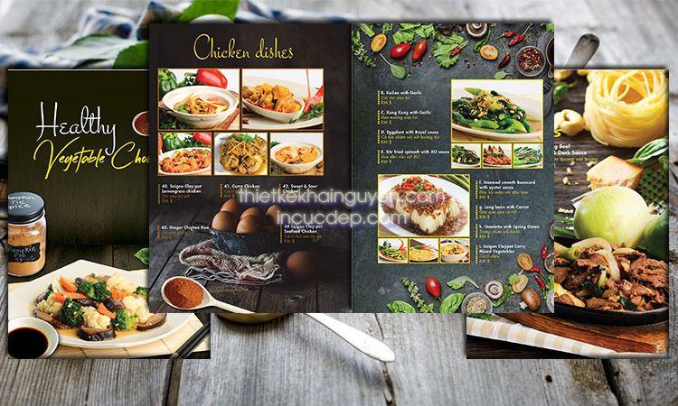 Thiết kế menu nhà hàng cao cấp