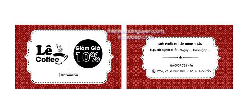 Mẫu thẻ giảm giá của Le Coffee