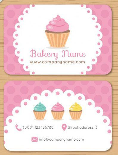 Mẫu danh thiếp dành cho tiệm bánh ngọt