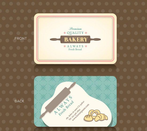 Mẫu thiết kế card visit tiệm bánh chuyên nghiệp