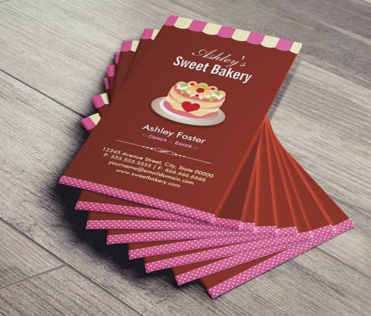 Mẫu danh thiếp tiệm bánh ngọt - phong cách thiết kế cute đáng yêu