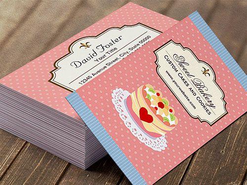 Thiết kế card visit tiệm bánh – tiệm kem