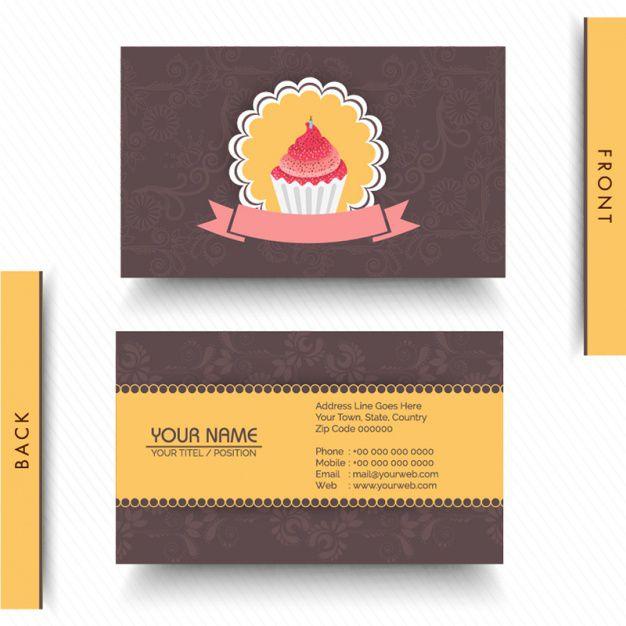 Thiết kế card visit cho tiệm bánh ngọt