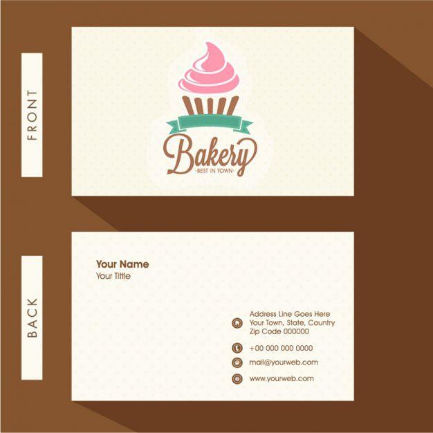 In card visit tiệm bánh ngọt