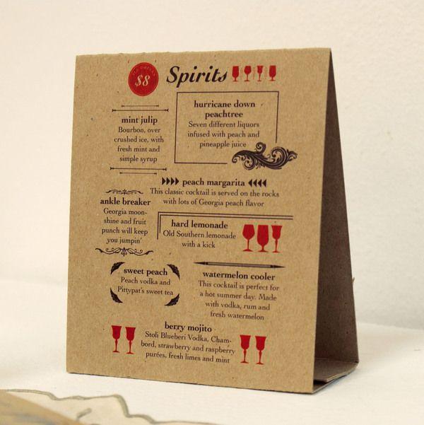 In menu để bàn giấy kraft cực đẹp
