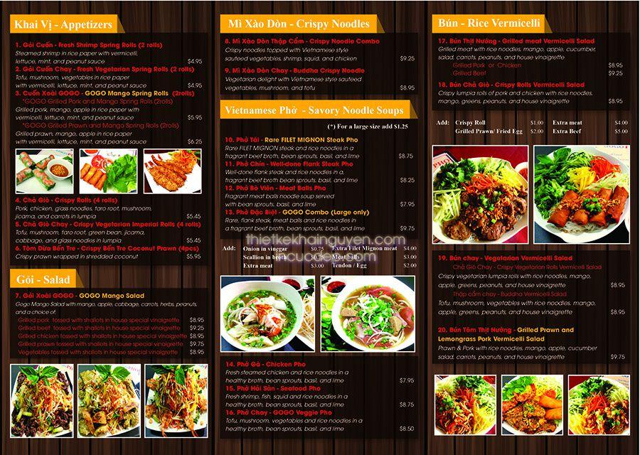 Menu tờ rơi nhà hàng - dạng menu A4 gấp 3