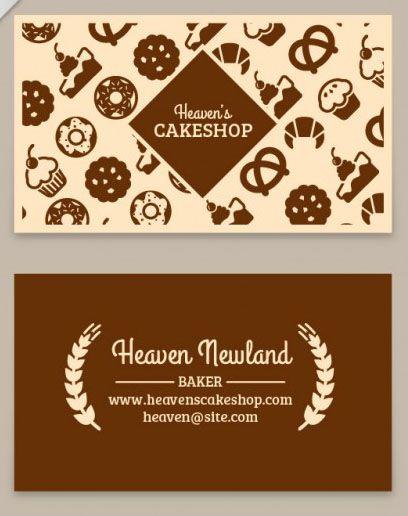 Mẫu thiết kế card visit tiệm bánh theo phong cách đậm đà cafe