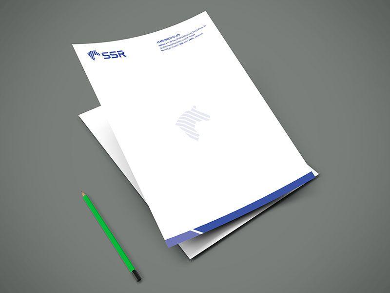 Mẫu thiết kế letterhead SSR