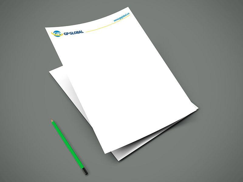 Nội dung thiết kế letterhead đơn giản