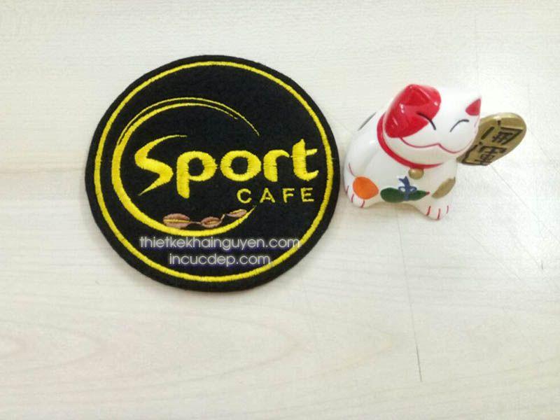 Mẫu lót ly vải quán CAFE SPORT - CAFE của thể theo