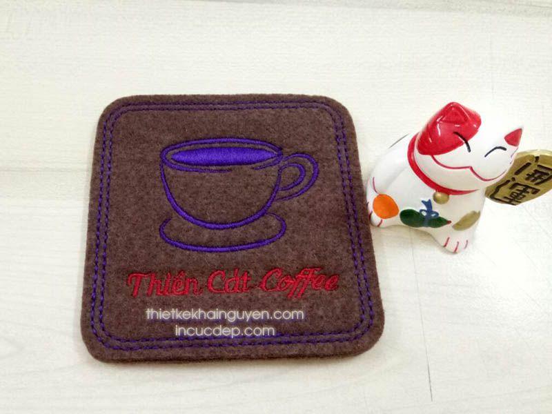 Thiên Cat COFFEE - mẫu lót ly vải nỉ