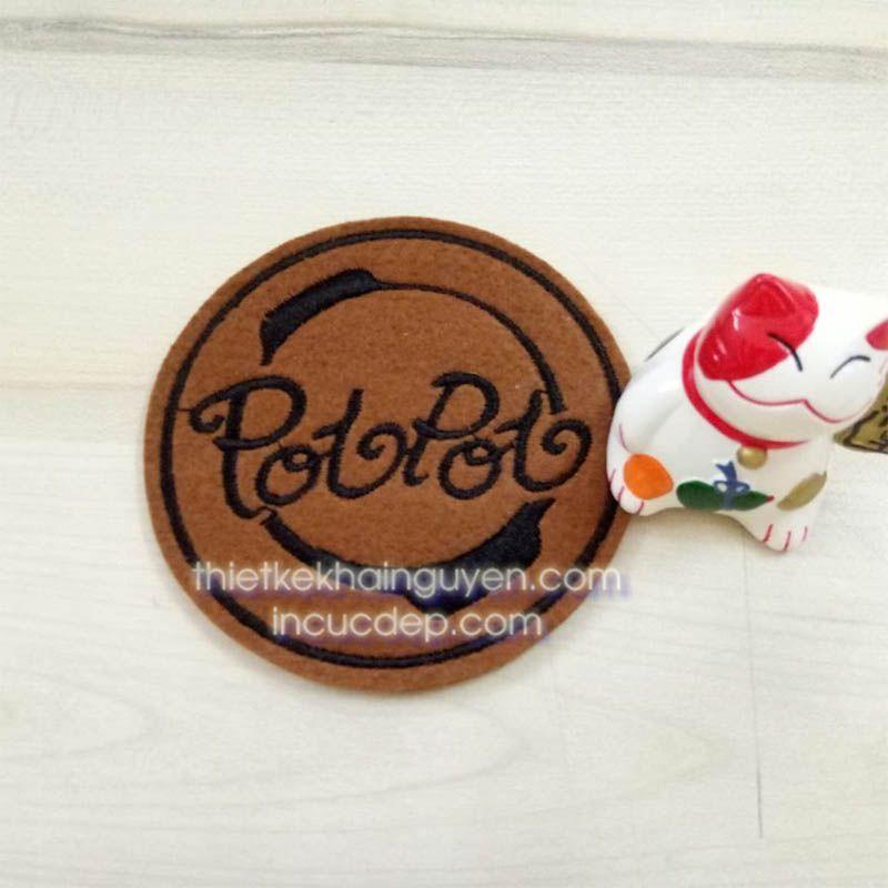 Mẫu lót ly của quán Resort POTPOT