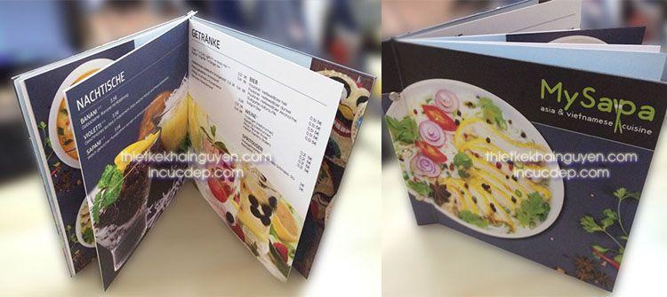 In thực đơn đóng cuốn gáy ốc - menu nhà hàng MYSPA tại Đức