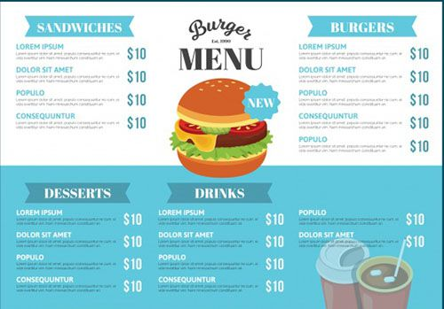 Mẫu thiết kế menu miễn phí