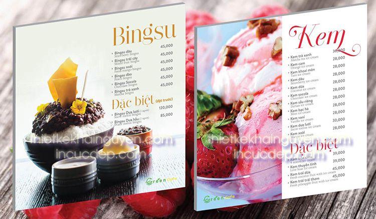 Menu kem Bing Su Hàn Quốc & các món kem Việt khác
