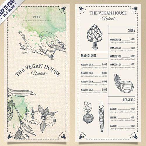 Mockup menu trên giấy mỹ thuật