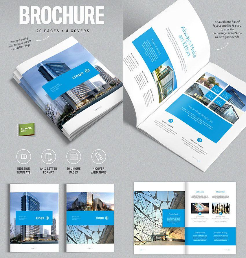 Profile công ty mẫu thiết kế theo tone màu xanh