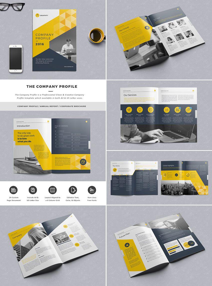 Thiết kế hồ sơ năng lực theo tone màu vàng đen