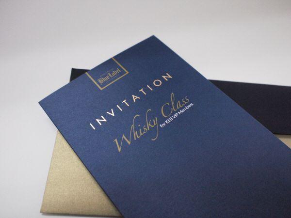 Mẫu thiệp cưới ép kim trên nền giấy mỹ thuật màu xanh
