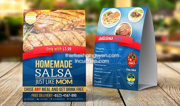 Standee menu mini quán nướng