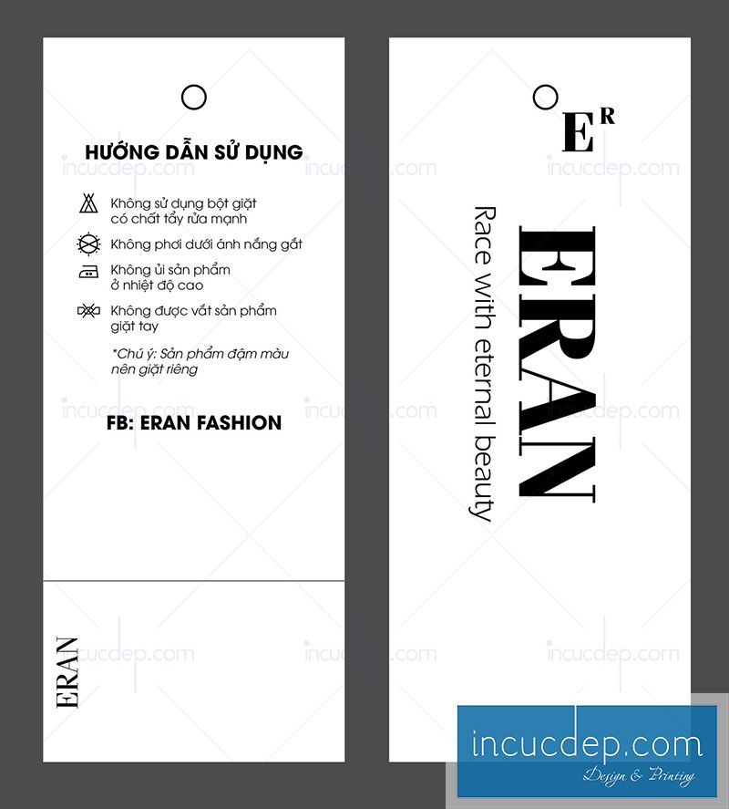 Thiết kế thẻ treo cho thời trang văn phòng - đơn giản nhưng phong cách