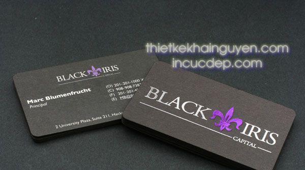 Mẫu ép kim màu tím + màu bạc trên nền giấy đen