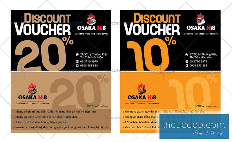2 mẫu voucher giảm giá 10% của nhà hàng Nhật
