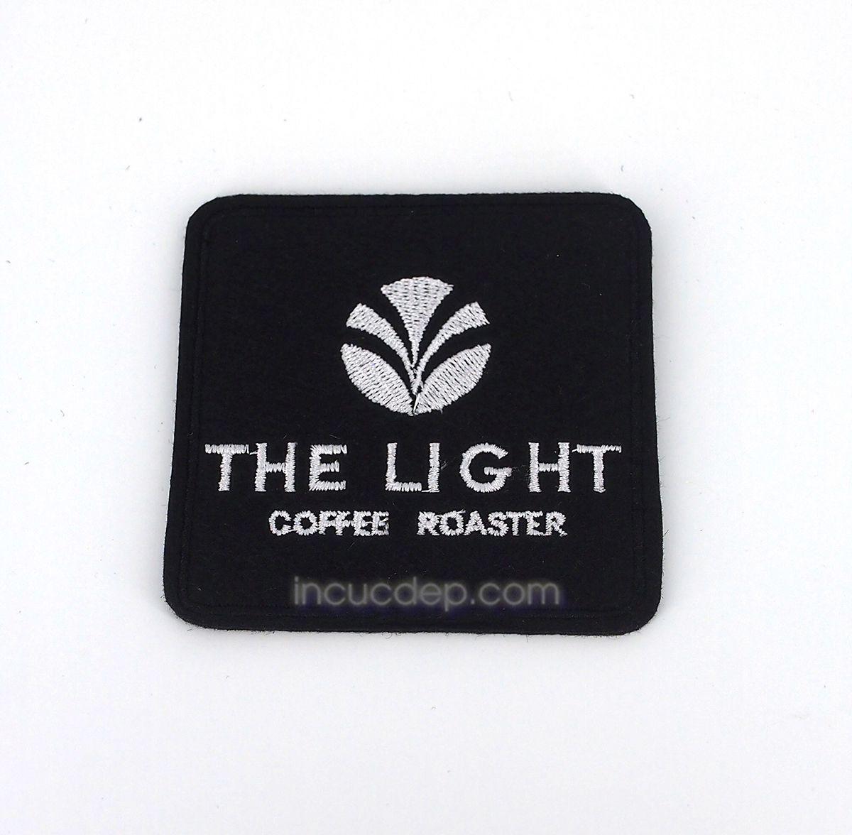 Mẫu lót ly quán cà phê The Light