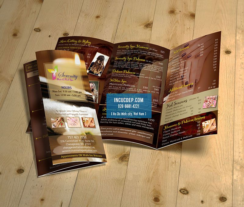 Thiết kế brochure gấp 3 cơ bản