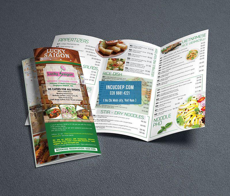 Thiết kế brochure cho nhà hàng lucky Sai Gon