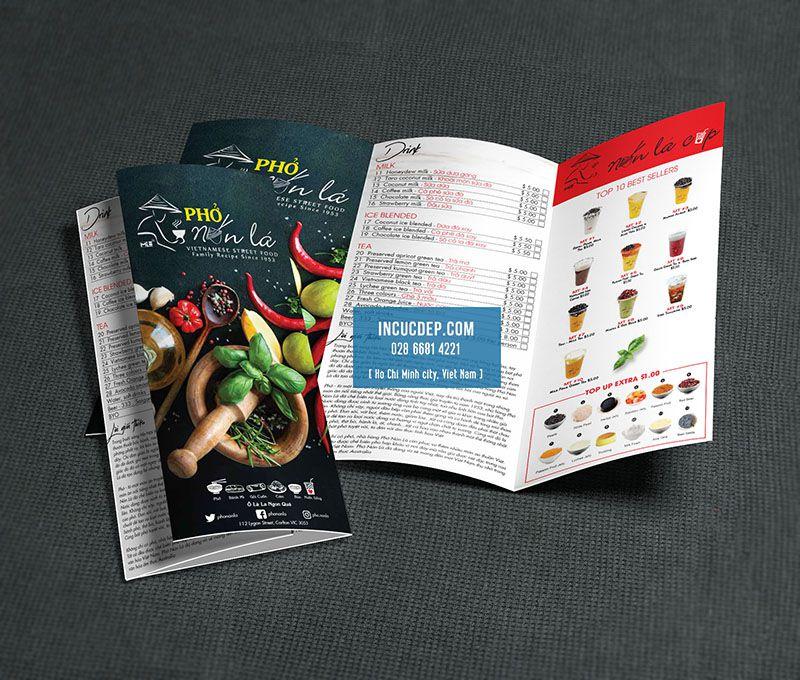 Mẫu thiết kế brochure nhà hàng phở tại Úc