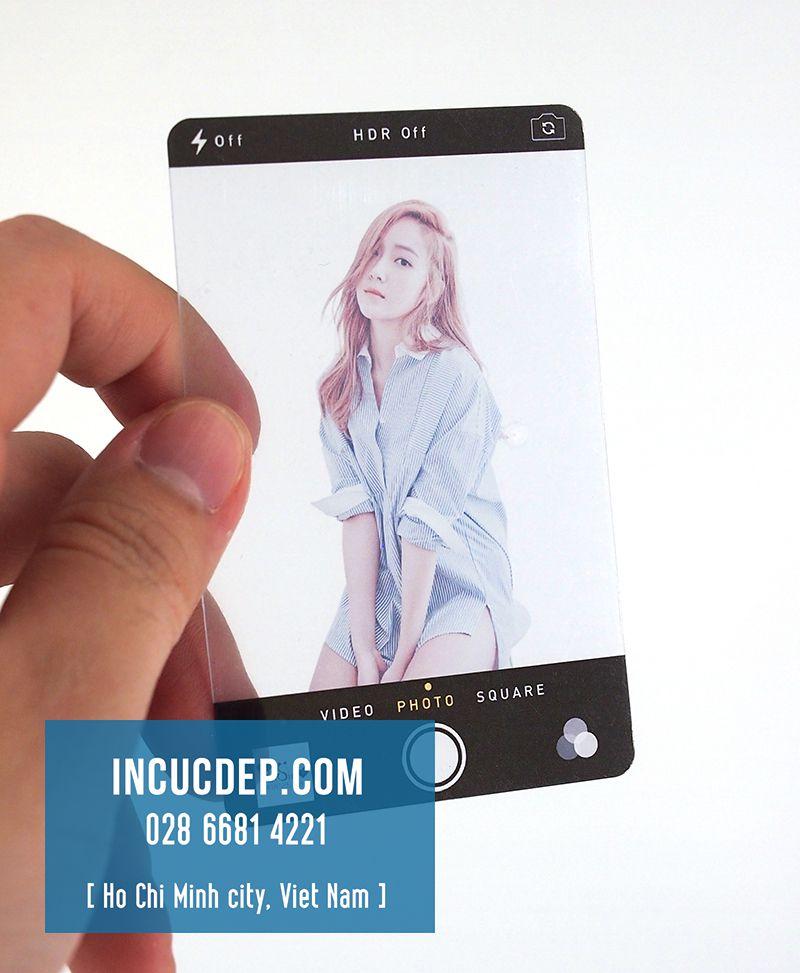 In card nhựa trong - thần tượng Kpop