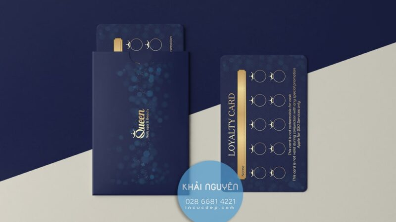 In voucher dạng card visit