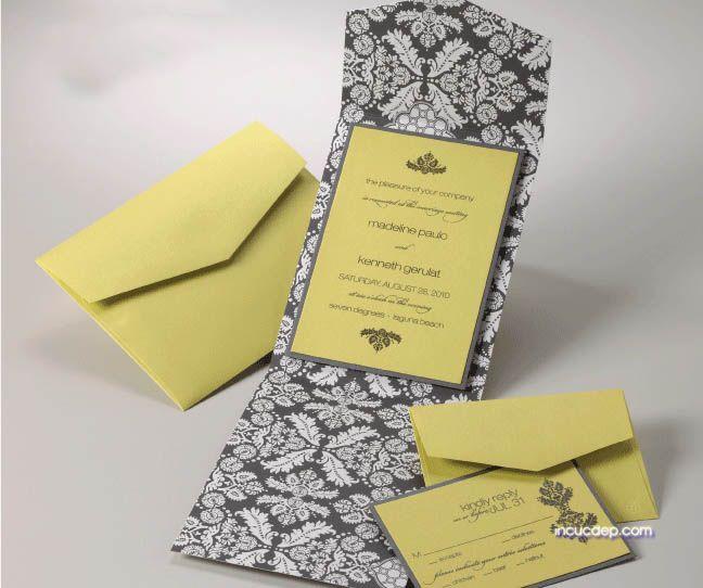 Bộ thiệp mời - thiệp cưới đơn giản hiện đại
