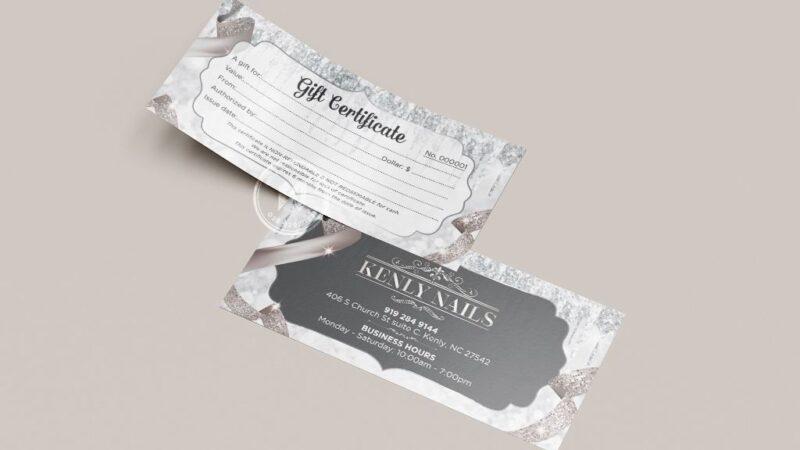 Mẫu thiết kế gift voucher đẹp cho SPA