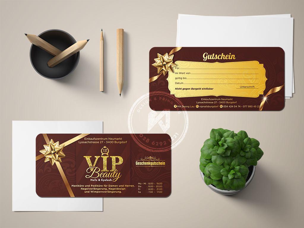 In thẻ quà tặng VIP CARD