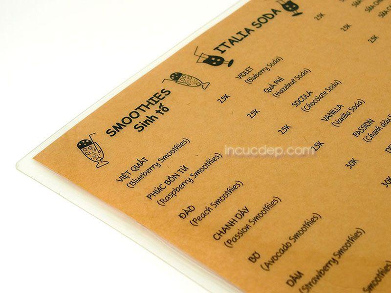 In menu ép plastic siêu dày