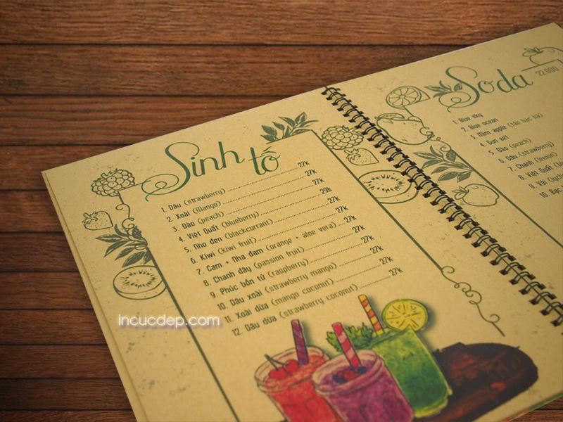 Sở hữu menu coffee đẹp để thu hút nhiều khách hàng hơn