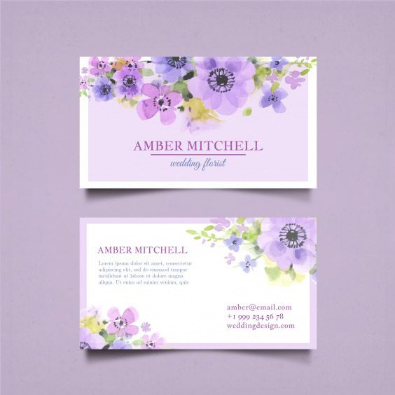 Name card dành cho phái đẹp - name card màu tím