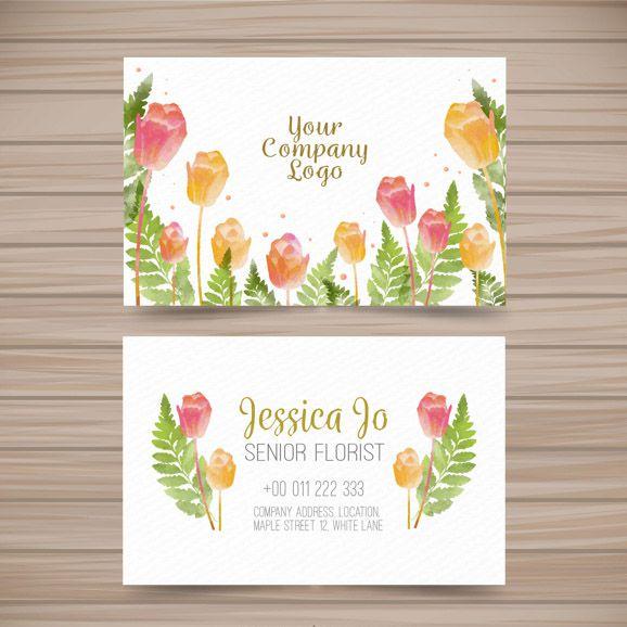 Name card cho Shop sử dụng vector hoa