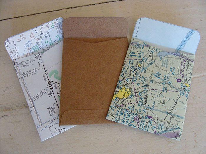 Thiết kế bao thư bản đồ - ý tưởng rất khác lạ